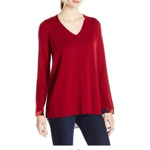 NYDJ XS Women's VNeck Sweater with Overlapped Back